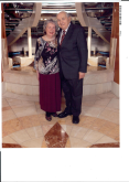 50th Anniversary Mom and Dad on cruise